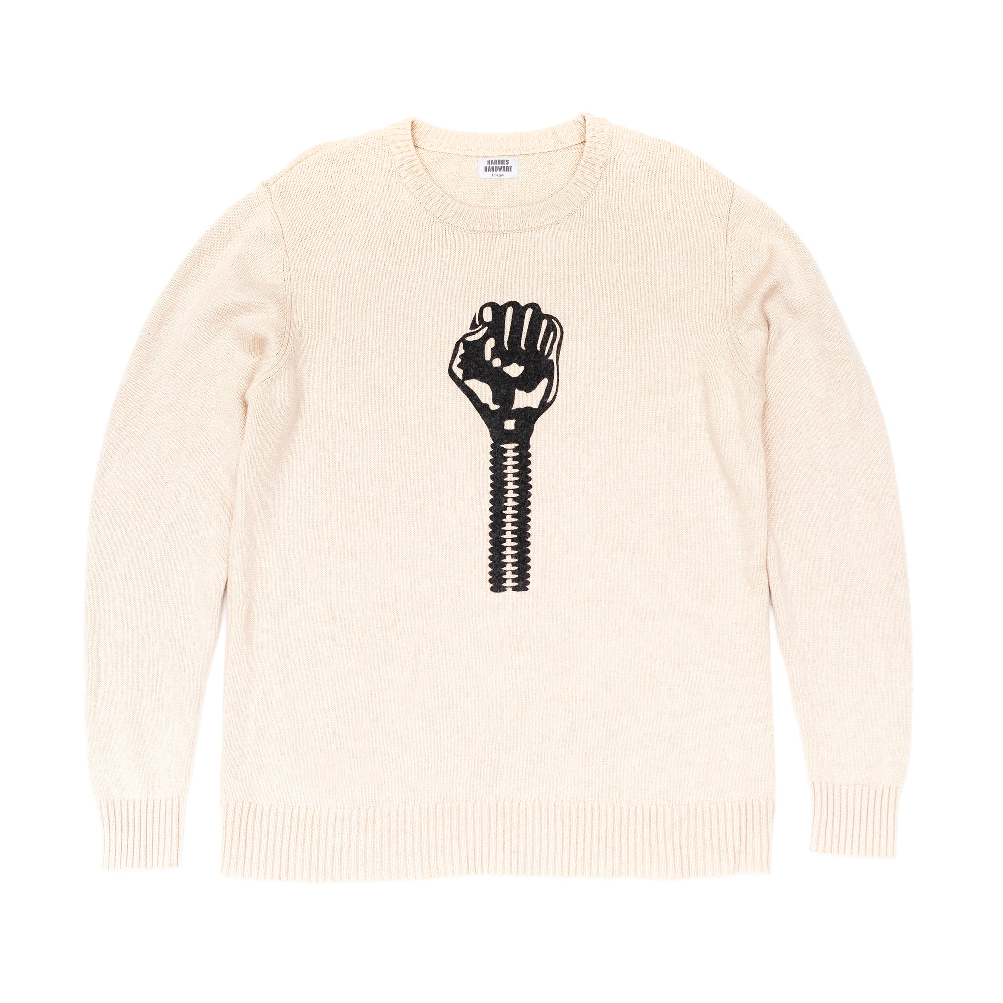 Knitted logo pullover
