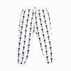 Nylon swishy pant white
