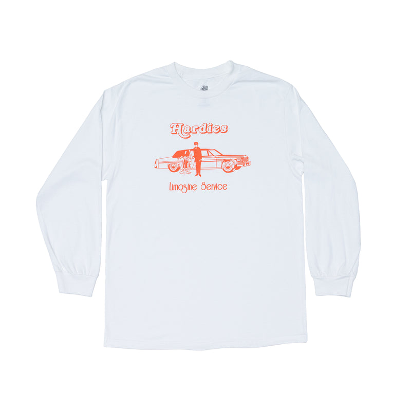 Limo service long sleeve tee white