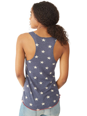 Alternative Apparel Meegs Printed Racerback Eco-Jersey Tank (Stars)