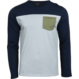 United By Blue Men's Standard Long Sleeve Colorblock Pocket Shirt