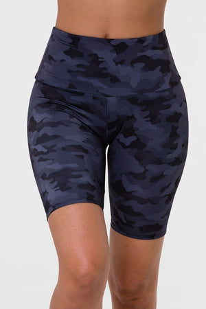 Onzie High Rise Biker Short (Black Gray Camo)