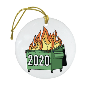 The Card Bureau Dumpster Fire Ornament