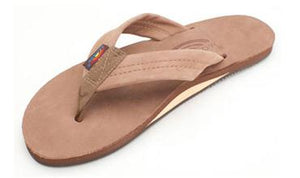 Rainbow Single Layer Premier Leather Sandal (Dark Brown)