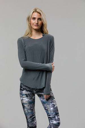 Onzie Tulip Back Long Sleeve (Metal)