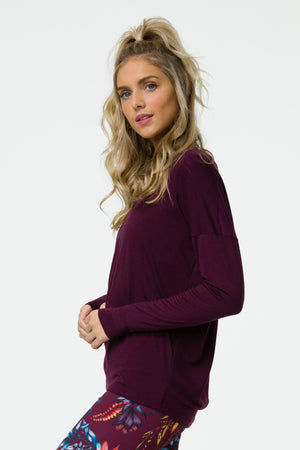 Onzie Diamond Back Top (Burgundy)