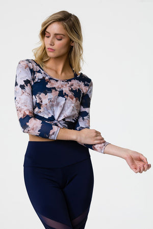 Onzie Long Sleeve Knot Crop (Nomad Blossom)