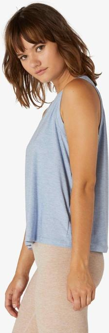 Beyond Yoga Balanced Muscle Tank (Blue Bells/Sky Blue)