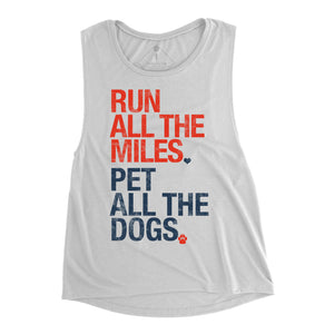 Sarah Marie Run All The Miles, Pet All The Dogs Tank