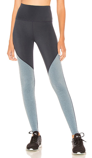 Beyond Yoga Plush Angled Midi Legging (Nocturnal Navy/Light Blue)