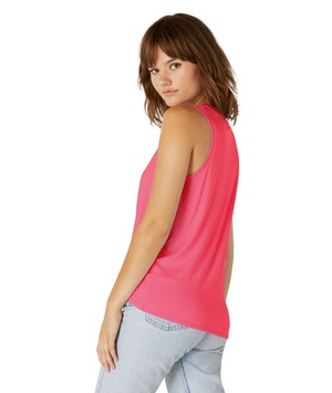 Beyond Yoga Twist Goodbye Muscle Tank (Raspberry)