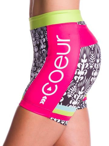 Coeur Tropical Punch Triathlon Shorts