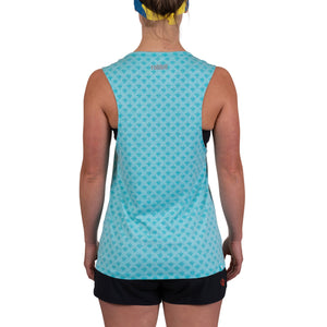 Rabbit Sun's Out, Guns Out Tank (Scuba Blue Heather)