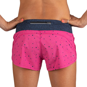 Rabbit Catch Me If You Can Splatter Shorts (Pink Yarrow)