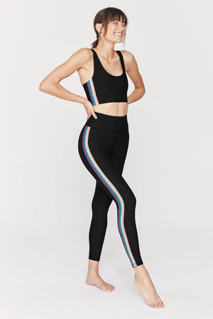 Spiritual Gangster Striped Sculpt Legging
