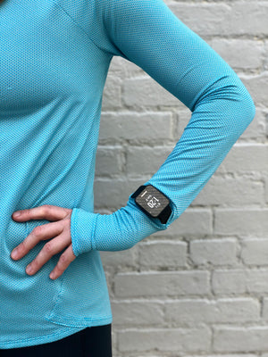 Oiselle Flyout Long Sleeve (Fresh/BB Blue)