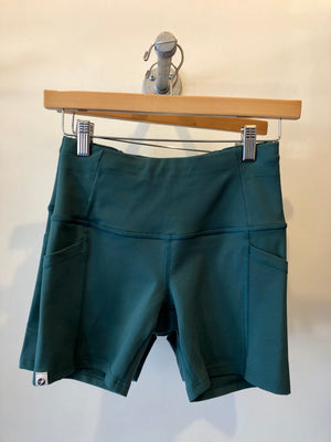 Oiselle Pocket Jogger Shorts (Douglas Fir)