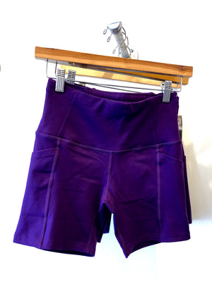 Oiselle Pocket Jogger Shorts (Epic Purple)