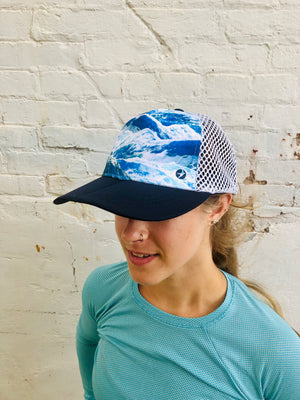 Oiselle Runner Trucker Hat (Mountains)