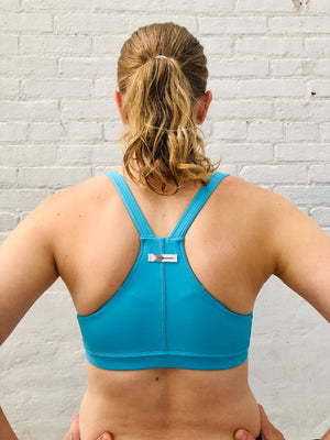 Oiselle Hi Ten Bra (BB Blue)