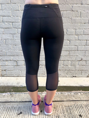 Oiselle Pocket Jogger Capris (Black)