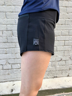 Oiselle Toolbelt Roga Shorts (Black)