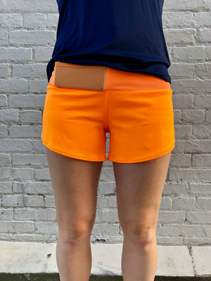 Oiselle Toolbelt Roga Shorts (Pop)