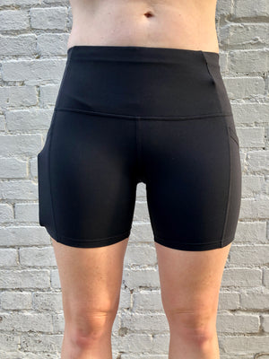 Oiselle Pocket Jogger Shorts (Black)