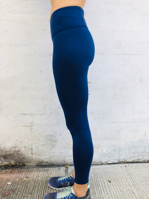 Oiselle Bird Hug Reversible Tights (Grounded/Mountain)