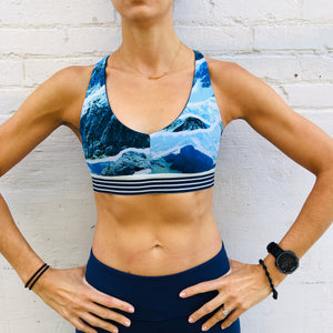 Oiselle Bird Hug Reversible Bra (Grounded/Mountain)