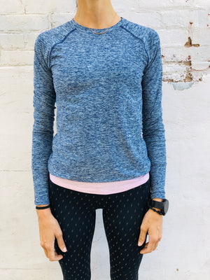Oiselle Lux Long Sleeve (Grounded/Fresh)