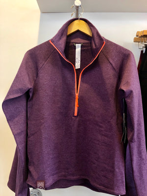 Oiselle Lux Half Zip Jacket (Empire/Mauve)