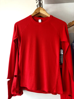 Oiselle Flyout Long Sleeve (Rising Sun/Red)
