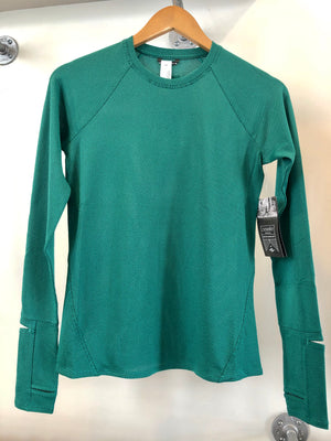 Oiselle Flyout Long Sleeve x TFIF Running (Shelly Green/Douglas Fir)