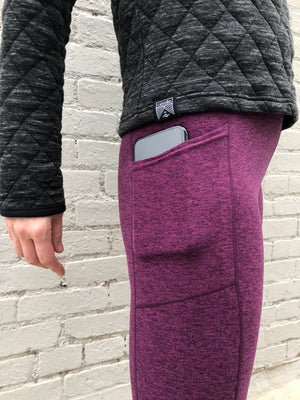 Oiselle Lux Go Anywhere 3/4 Tights (Empire/Queen)