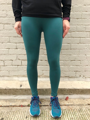 Oiselle Bird Hug Reversible Tights (Douglas Fir/Black)