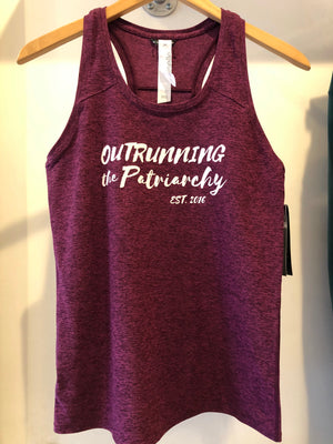 Oiselle Lux Racerback Tank (Empire/Queen) x Outrunning the Patriarchy