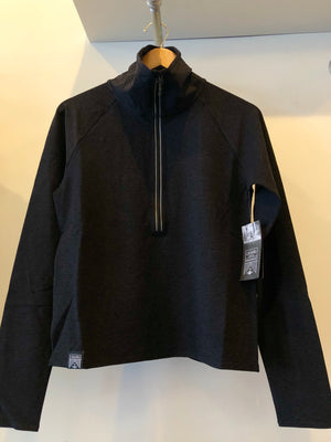 Oiselle Lux Half Zip Jacket (Black Reflective)