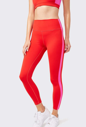 Splits59 Clare Techflex 7/8 Legging (Red/Fuchsia)