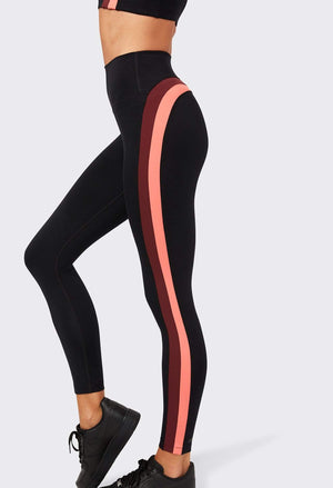 Splits59 Sydney Techflex 7/8 Legging (Black/Peach/Burgundy)