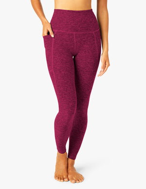 Beyond Yoga Out of Pocket High Waisted Midi Legging (Magenta)