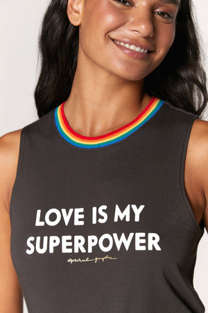 Spiritual Gangster Love is My Superpower Muscle Tank