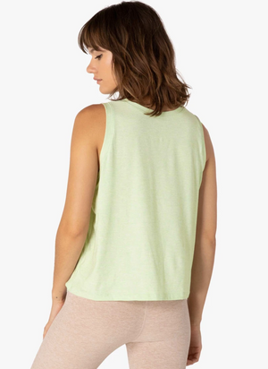 Beyond Yoga Balanced Muscle Tank (Green Sprout/White)