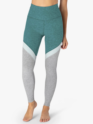 Beyond Yoga Spacedye Tri-Panel High Waisted Midi Legging (Meadow Sage)