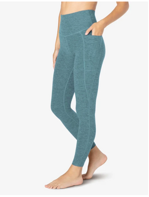 Beyond Yoga Out of Pocket High Waisted Midi Legging (Meadow Sage-Frosty Glade)