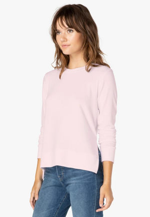 Beyond Yoga Just Chillin Long Sleeve Pullover (Pink Blush)