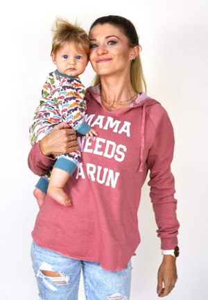 Sarah Marie Mama Needs A Run Hoodie (Dusty Rose)