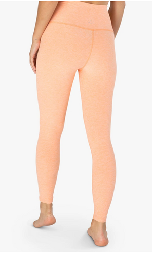 Beyond Yoga Spacedye High Waisted Caught in the Midi Legging (Sweet Peach - Pink Blush)