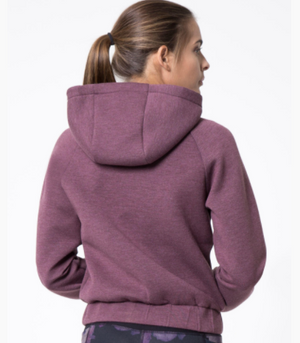 MPG Chamber Cropped Hoodie (Soft Plum)