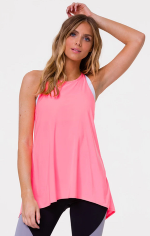 Onzie Tie Back Tank One Size (Neon Coral)